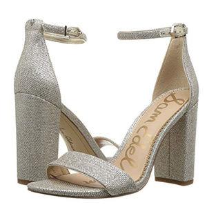 Sam Edelman Yaro Ankle Strap Sandal Silver sz 8